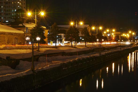 20170304夜の小樽・小樽運河sd1QH-11.jpg